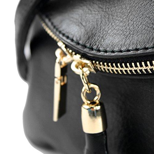 in modamoda d'embrayage sac T139 en d'embrayage cuir sac bandoulière sac de Made Sac T139a ital Schwarz Italy Fille cuir à petit SSgwq1
