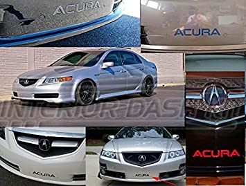 FRONT BUMPER CHROME INSERTS LETTERS EMBLEM - 2006 acura tl accessories