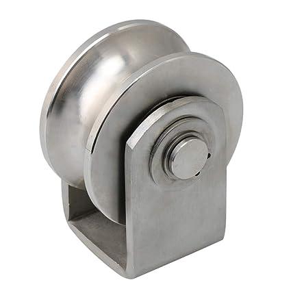 BQLZR Polea fija tipo U de acero inoxidable 201, 7,8 x 6,3 x ...
