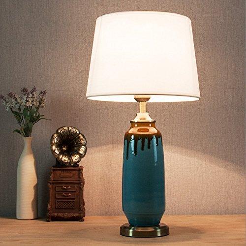 HH Simple modern ceramic table lamp blue decoration living room ...