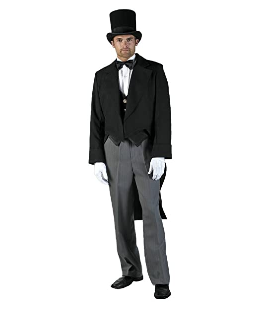 Victorian Men's Costumes: Mad Hatter, Rhet Butler, Willy Wonka Mens Gentleman Tail suit Theater Costume $309.99 AT vintagedancer.com
