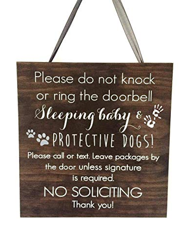(Sleeping Baby | Hanging Door Sign | Nursery Decor | Baby Sleeping Sign | Baby Shower Gift)