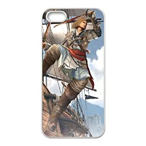 Assassins Creed Black Flag iPhone 5 5s Cell Phone Case White as a gift Y4600630