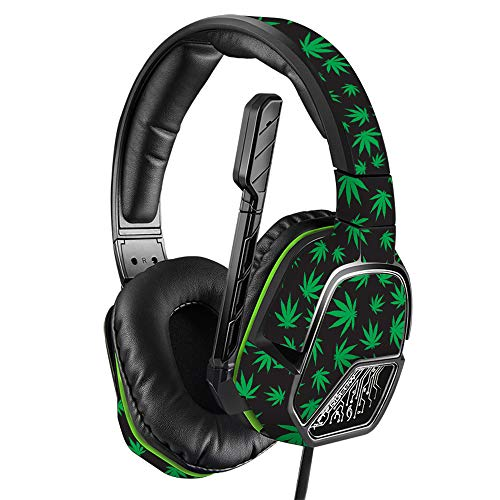 MightySkins Skin for PDP Xbox One Afterglow LVL 3 Headset - Marijuana | Protective, Durable, and Unique Vinyl Decal wrap Cover | Easy to Apply, Remove, and Change Styles | Made in The USA