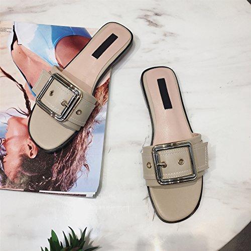 correa de zapatillas el five par Donyyyy verano en hebilla Thirty de fondo del plano sandalias de p17pngWO