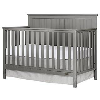 Dream On Me Alexa 5 in 1 Convertible Crib, Storm Grey