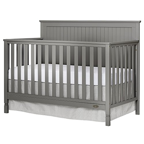 Dream On Me Alexa 5 in 1 Convertible Crib, Storm Grey
