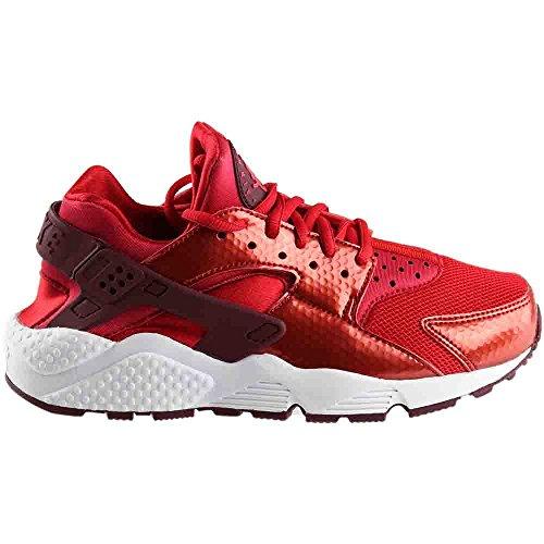 Nike Womens Air Huarache Kjøre Universitet Rød / Rødbrun-hvitt Maskevidde 5