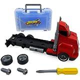 Big Rig Tool Box Hauler Truck - Take Apart Work Bench Set for Kids