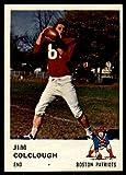 1961 Fleer #180 Jim Colclough Excellent Patriots
