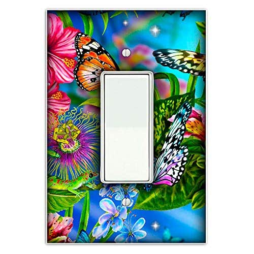 Amazon.com: Butterfly Garden Decorative Single Rocker/Decora Light Switch Plate Cover: Handmade