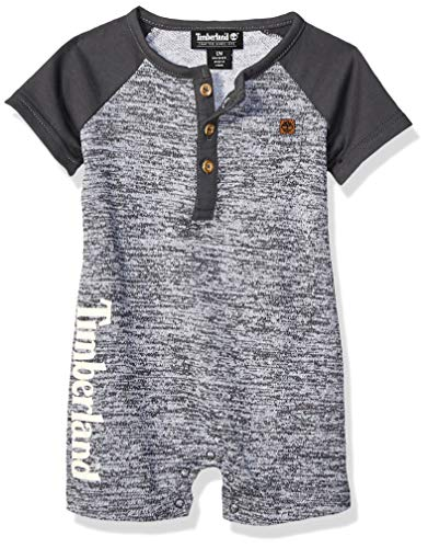 Timberland Baby Boys Romper, Gray Heather 12M