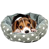 Dog Bed with Washable Cover - Pet Dog Bed, Pet Soft Washable Dog Cat Warm Basket Bed with Removable Cushion Fleece Lining Round Pet Bed Fit Most Pets Size Medium