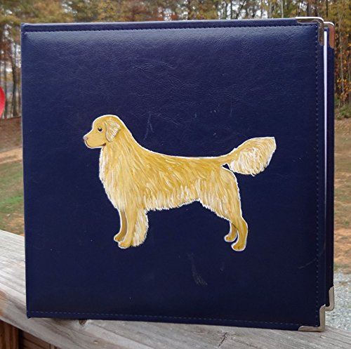 Golden Retriever Dog Hand Painted Photo Album / Scrapbook for Show Photos, Awards, Action Shots, Agility