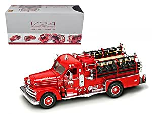 Road Signature 20168r 1958 Seagrave 750 Fire Engine Truck Red with Accessories 1-24 Diecast Model