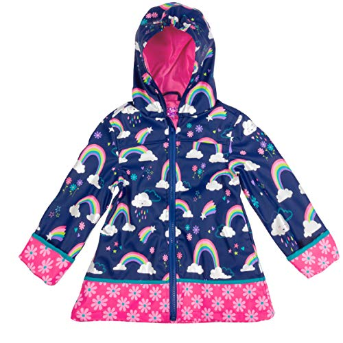 Stephen Joseph Girls' Little Print Raincoat, Rainbow, 7/8 by Stephen Joseph