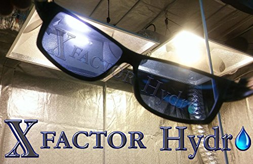 Xfactor Hydro Professional Grade Grow Room Glasses Indoor/Outdoor Hydroponics Anti UV, Reflection, Glare Optical Protection (High Pressure Sodium (HPS ()