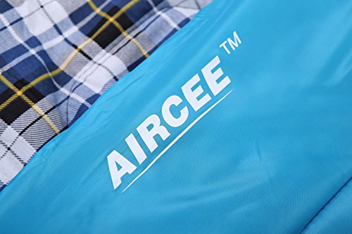 AIRCEE-2-Person-Queen-Size-Flannel-Liner-Double-Sleeping-Bag-With-Pillows-15-Degrees
