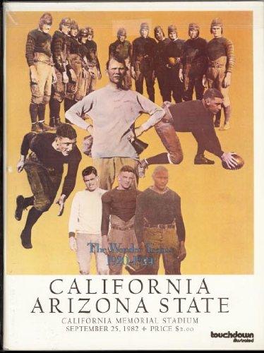 Football Game Program University of California vs Arizona State 1982 (Arizona State Vs University Of Arizona Football)