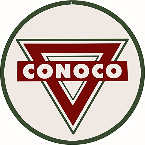 Reproduction Conoco Round Service Station Sign