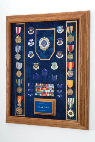 """Military Medal Display Case - 16""""x20"""" - wall mount Shadow..."""