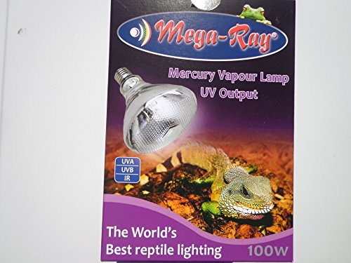 Mega-Ray Mercury Vapor Bulb - 100 Watts (120V) by Mega-Ray Pet Care