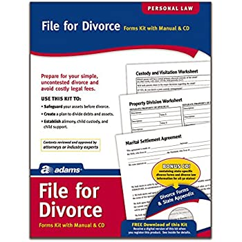 Amazon adams divorce kit forms and instructions includes adams divorce kit forms and instructions includes cd k302 solutioingenieria