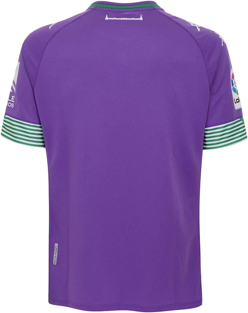 Camiseta Purple Kappa Real Betis Balompi/é Segunda Equipaci/ón 2020-2021 Talla L