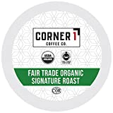 Corner One Coffee, 100 Ct. Single-Serve K-Cup, Fair Trade Organic Signature Roast, Keurig 2.0 Compatible