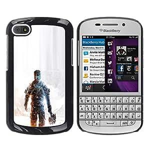// PHONE CASE GIFT // Duro Estuche protector PC Cáscara Plástico Carcasa Funda Hard Protective Case for BlackBerry Q10 / Dead Spac3 /