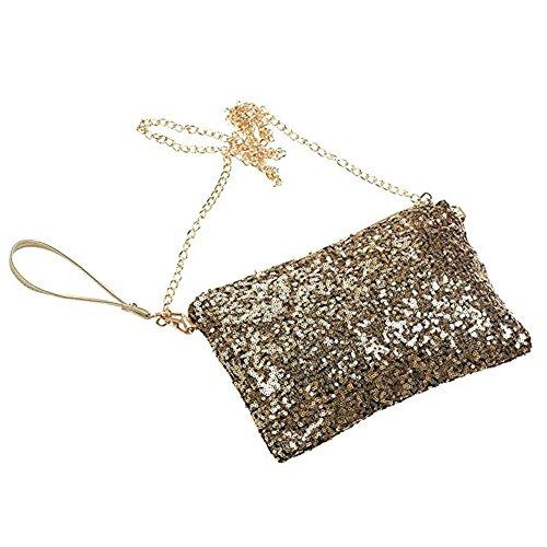 Bag Bag Handbag Wrist Gold Women Bag Glitter Purse Evening Sequins Crossbody Shoulder I8YS8O
