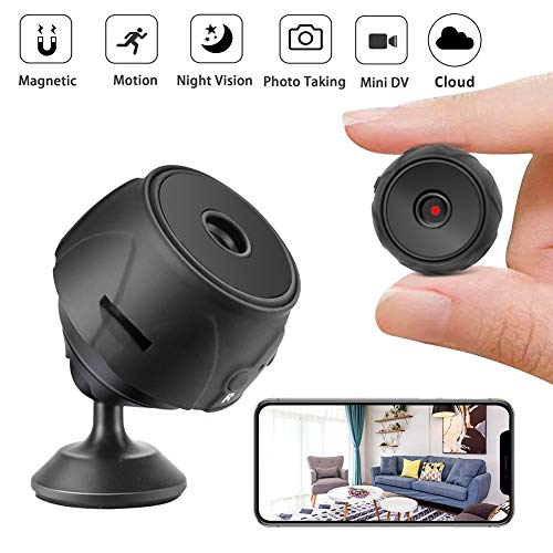 Mini Spy Camera, Wireless Hidden Cameras with Night Vision for Home and Outdoor, 140° Wide Angle WiFi Motion Detection Cam with Audio for Android and iOS System