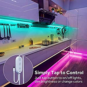 Govee LED Strip Lights, 32.8ft Waterproof Color Changing Light Strips with Remote, Bright 5050 and Multicolor RGB LED Strip, LED Lights for Room, Kitchen, Yard, Party, Halloween, Christmas