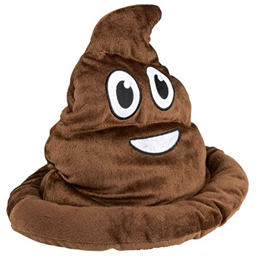 Kicko Poop Emoji Hat - 12 Inch Emoticon Poop Hat - Novelty Toys, Gag Toys and Practical Jokes, Poop Hats for Kids