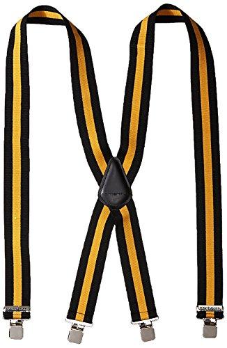 Carhartt Men's Tradesmen Suspender, Black/Gold, ONE SIZE by Carhartt
