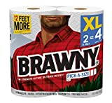 Brawny Paper Towels, White, 2 Count