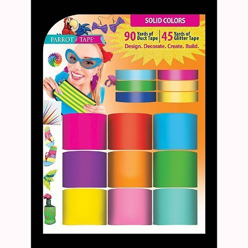 Parrot Tape Duct Tape Glitter Tape Combo Solid Colours B00PA210Y8
