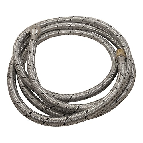 (Low Pressure 2m(6 ft) Aluminum reinforced Pigtail Gas Hose with 3/8