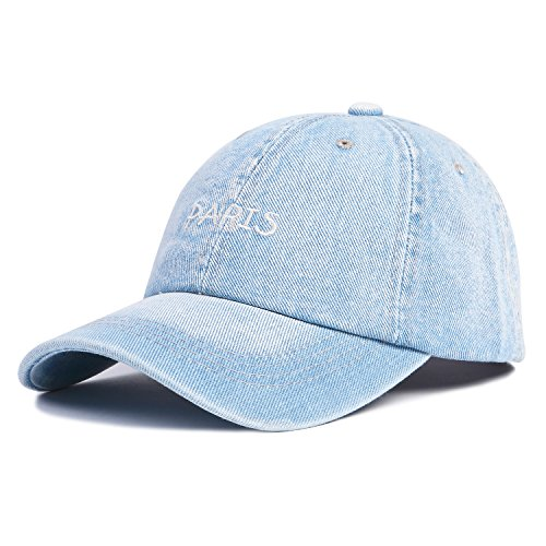 Baseball Cap Adjustable Strap - Choomon Unisex Cotton Denim Baseball Cap Adjustable Strap Low Profile Plain Hats (Light Blue-P)