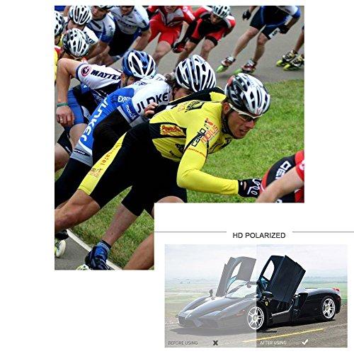 Esquiar Libre Unisex Gafas Con Conducción Deporte Aire una Negro Sol Ciclismo UV400 Deportivas de y Polarizadas Pesca cuerda aYSwq77d