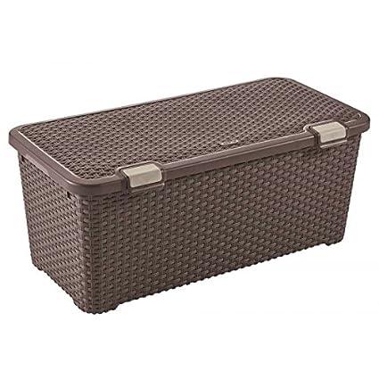 CURVER M273902 - Caja Style Box 72 litros Marron
