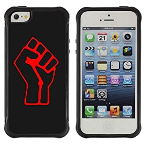Hybrid Anti-Shock Defend Case for Apple iPhone 4s 4s Cool Rise Fist Sign