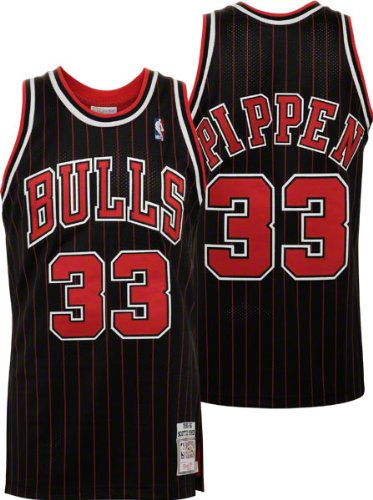 Scottie Pippen Black Mitchell   Ness Authentic Hardwood Classics  33  Chicago Bulls Jersey c20b7e212
