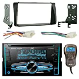 JVC KW-R920BTS Double Din Bluetooth CD MP3 Player Stereo Receiver Bundle Combo With Metra 2-Din installation Dash Kit + Wiring Radio Harness & Wireless Handset For 2003-08 Toyota Corola Car Vehicles