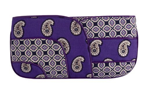 (Vera Bradley Patchwork Collection Jazzy Clutch Bag in Simply Violet)