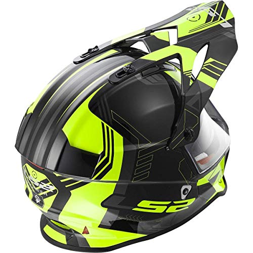 LS2 Helmets Pioneer V2 Solid Unisex Adult Off-Road Adventure Helmet (Large, Yellow Trigger)