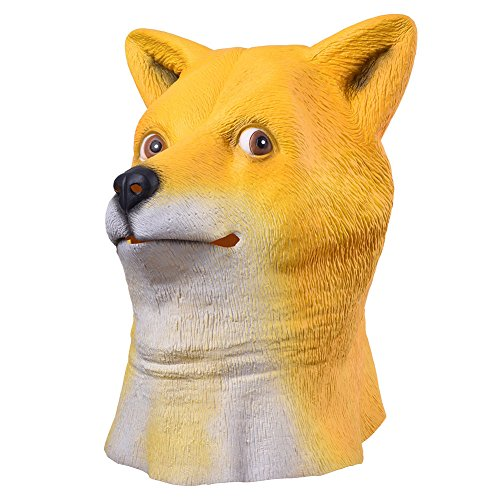 [DASARA Wow Doge Meme mask KABOSU face latex headgear Halloween Cosplay] (Breaking Bad Pumpkin Stencils)