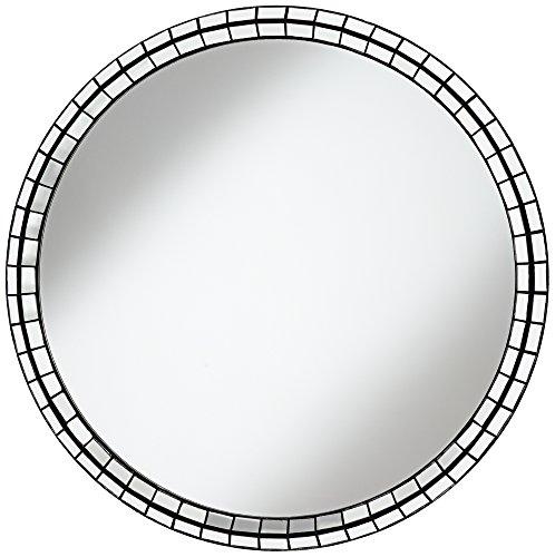 Park Round Mirror (Rivera Silver Tiles 39
