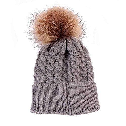 Newborn Baby Kids Boys Girls Beanie Children Winter Caps Knitted Wool Hats - Snapbacks And Beanies