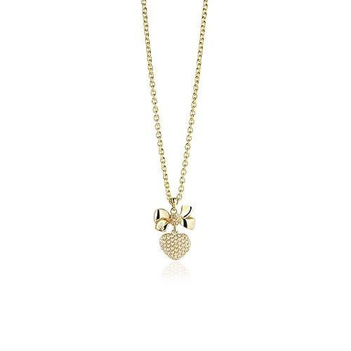 Guess Damen-Kette mit Anhänger Messing teilvergoldet Zirkonia gold – UBN21587